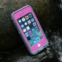 Levin™ 6.6 ft Underwater Waterproof Shockproof SnowProof DirtProof Durable Full Sealed Protection Case Cover for iPhone 5 5S (Pink)