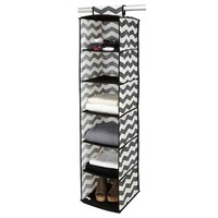 The Macbeth Collection Closet Candie Collapsible Chevron 6-Shelf Hanging Organizer (Grey)