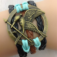 Vintage lovebirds sword braids bracelet DS05000
