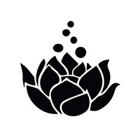 Lotus flower Vinyl STICKER/DECAL For Cars.Trucks,Computers,Notebooks etc. Any Corlor
