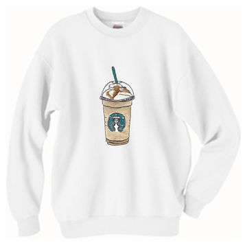 Starbucks Frappuccino Oversized Sweater Tumblr
