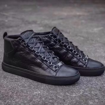 Balenciaga Women's Arena Leather High Top Casual Sneakers Shoes
