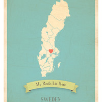 My Roots Sweden Map