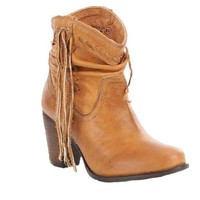 ONETOW Naughty Monkey Noe Tan Heeled Booties