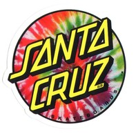 Santa Cruz Tie Dye Skateboard Sticker 8 x 7.5cm new sk8 Hippy 60s Flower Power