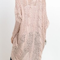Blushing Beauty Open Front Sweater