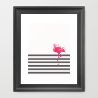 Live Free Flamingo  Framed Art Print by Sunkissed Laughter