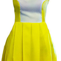 Yellow Cocktail Dress - Angelica Silk Dress | UsTrendy