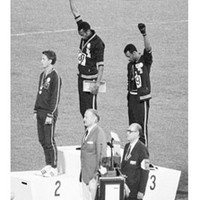 Black Power Olympic Medalists, Mexico City, 1968 (mini) Art Print