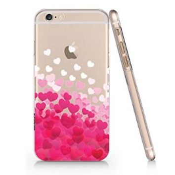 Pink Love Heart Pattern Iphone 6 case, Iphone 6 Case Slim White Cover Skin (4.7'' Screen) (LA037)