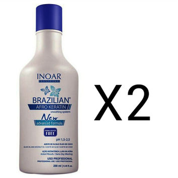 INOAR AFRO KERATIN HAIR STRAIGHTENING TREATMENT 500ml (2x250ml)