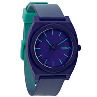 Nixon A1191379 Men's The Time Teller P Blue Dial Teal & Purple Fade Plastic Strap Watch