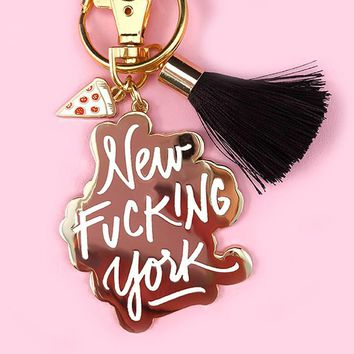 New Effin' York Keychain