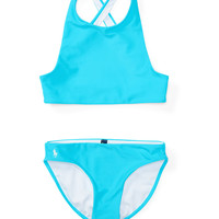 CRISSCROSS TWO-PIECE SWIMSUIT