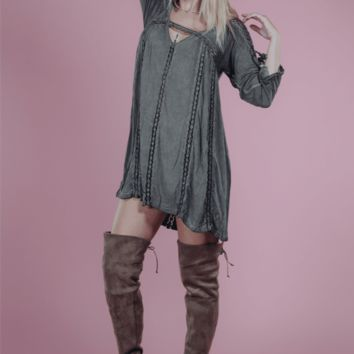 Tay Olive Shift Dress
