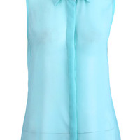 ROMWE | Mint Green Riveted Vest(Arrival until Mar.10th), The Latest Street Fashion