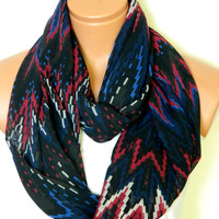 Chevron pattern scarves,Chevron Scarf,infinity Scarf,Loop Scarf, fabric Scarves,Cowl Scarf,Nomad Cowl.eternity Scarf