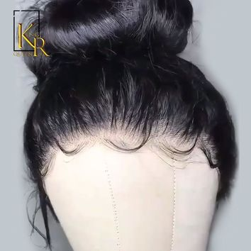 Cool Full Lace Human Hair Wigs Pre Plucked Straight Brazilian Remy Hair Full Lace Wigs For Women Bleached Knots King Rosa Queen HairAT_93_12