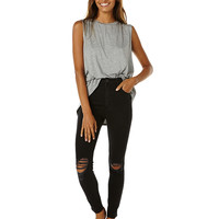 A.BRAND A HIGH SKINNY ANKLE BASHER WOMENS JEAN - BUSTER BLACK
