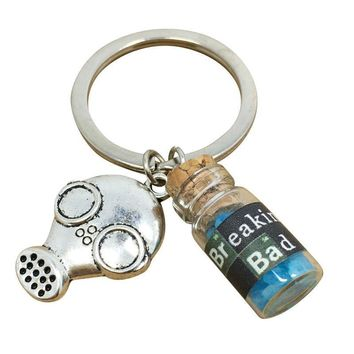 Creative Trendy Functional New Arrival Gift Hot Sale Great Deal Glass Blue Vintage Keychain [1562497482806]
