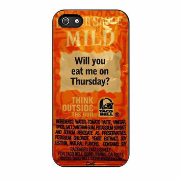 taco bell sauce fire mild cases for iphone se 5 5s 5c 4 4s 6 6s plus