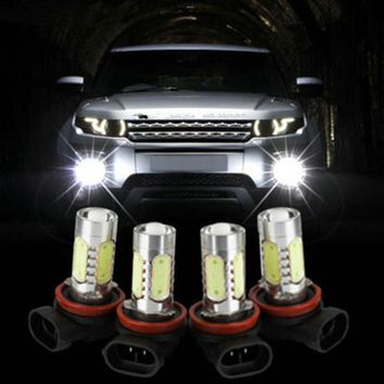 H3 H7 H8 H11 H49005 9006 7.5W High Power COB LED Bulb Car Auto Light Source Projector DRL Fog Headlight Lamp White yellow