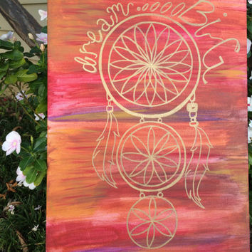 Dream catcher painting from hannahbellich on etsy epic for Dream catcher spray painting