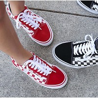Vans Fashion New Plaid Women Men Sports Leisure Shoes