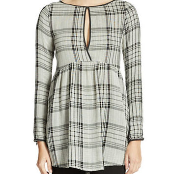Free People Exploded Plaid Tunic