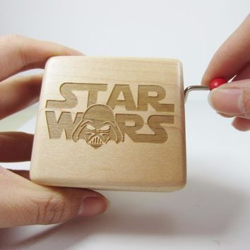 Star Wars Force Episode 1 2 3 4 5 Handmade smilelife Wooden  brand music box gift box, birthday wedding Christmas new year gifts   AT_72_6