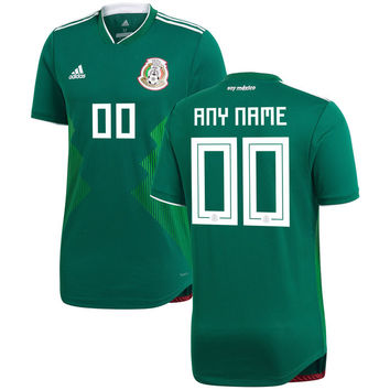 Mexico National Team 2018/2019 Home Blank Custom Jersey - Green