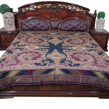 Indian Throw Pink and Blue Reversible Bedspread Bedding King Mogul Tapestry Blanket: Amazon.ca: Home & Kitchen
