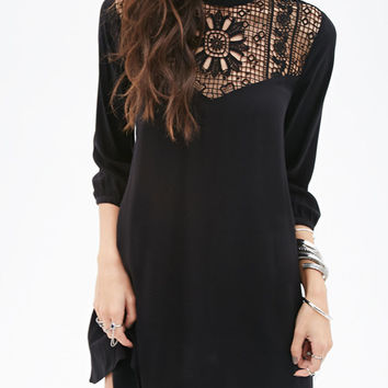 Crochet Front Tunic Dress