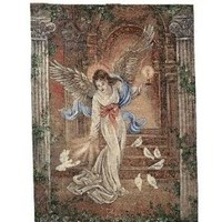 Angel of Light Tapestry Wall Hanging
