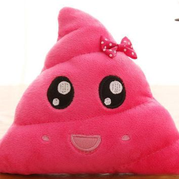 Pink Poop Emoji Emotion Pillow Stuffed Plush Toy