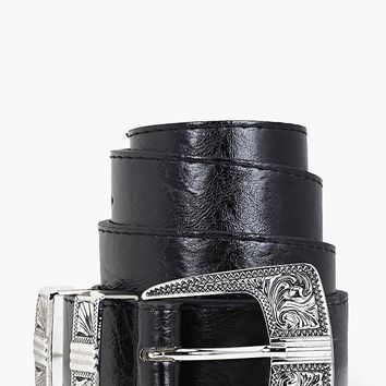 Alice Metal Tipped Western Belt | Boohoo