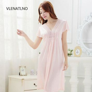 ESBONHS 2015 summer style Noble sexy women's laciness lace royal spaghetti strap viscose long design nightgown