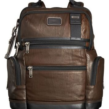 Men's Tumi 'Bravo - Knox' Leather Backpack - Brown