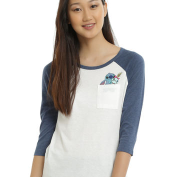 Disney Lilo & Stitch Scrump Pocket Girls Raglan