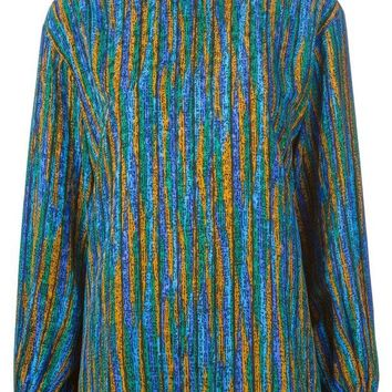 ONETOW Yves Saint Laurent Vintage printed funnel neck top