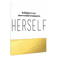 Behind Every Successful woman is Herself - Canvas- Custom Art Print - motvational art - inspirational quotes - wall art - home decor