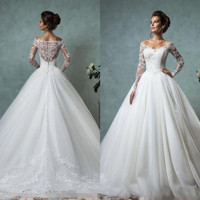VINO-PROM White Ivory Wedding Dress Bridal Gown