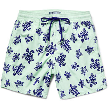 Vilebrequin - Moorea Mid-Length Turtle-Flocked Swim Shorts | MR PORTER