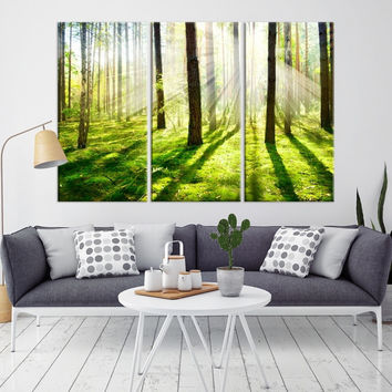 43484 - Forest Wall Art- Autumn Canvas Print- Forest Canvas- Forest Canvas Art- National Art Print- Canvas Print- Large Wall Art-