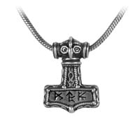 Alchemy Gothic Bindrune Hammer Pendant Necklace Thor