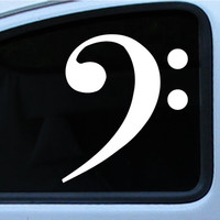 """Bass Cleft vinyl decal/sticker 4"""" 6"""" or 10"""" In multiple of different colors"""