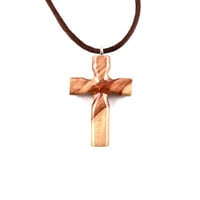 Wooden Cross Necklace, Wooden Cross Pendant, Cross Necklace, Cross Pendant, Christian Jewelry, Hand Carved Cross Pendant, Wood Jewelry