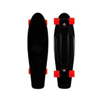 "Blank Vinyl Plastic Cruiser Skateboard Complete In Penny Nickel Size 27"" W/ Stereo-Sonic Tail Black/Red"