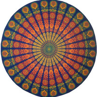Peacock - Round - Tablecloth