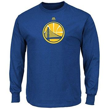 Golden State Warriors NBA Men Primary Logo Long Sleeve Shirt